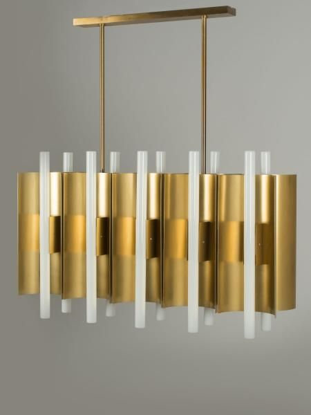 Gio Ponti brass pendant light