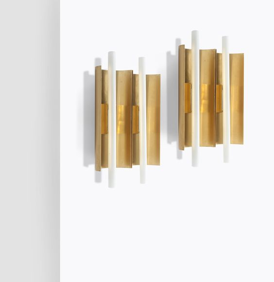 Gio Ponti brass wall light ll
