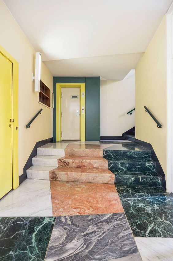 Gio Ponti entryways of Milano