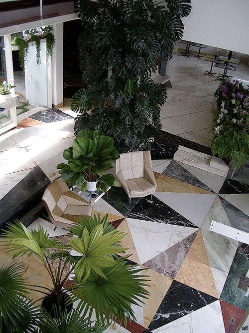 Gio Ponti marble flooring