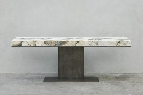 Joseph Dirand marble and brass table / furniture design