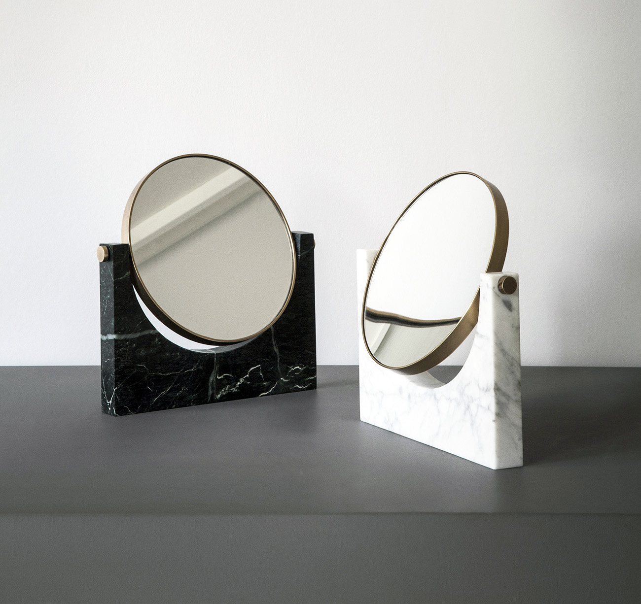 Studio pepe mirrors in marble and brass