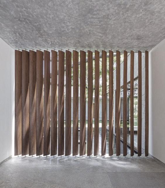 Wood stripes louvers