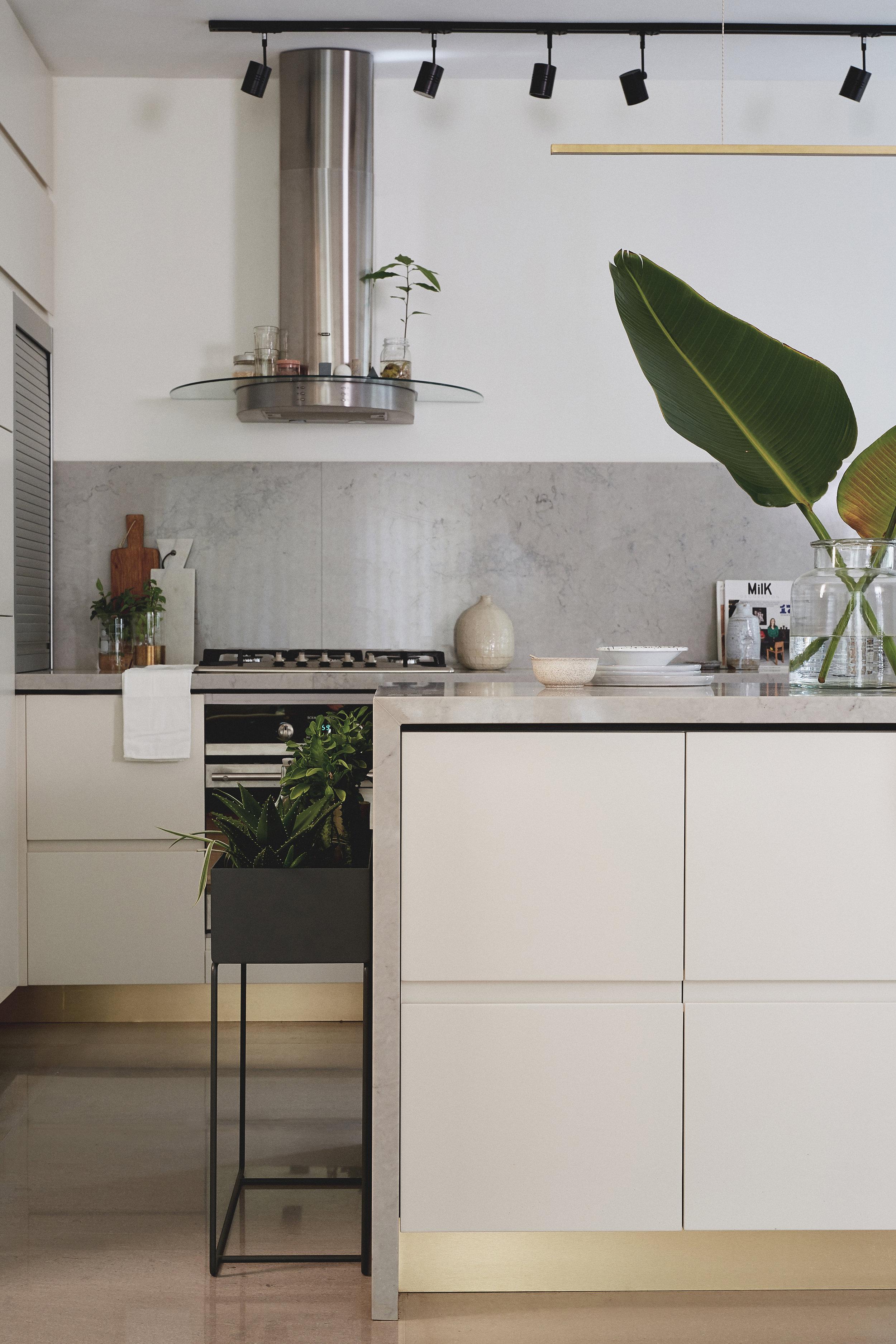 grey marble kitchen and Milano grey stone floor