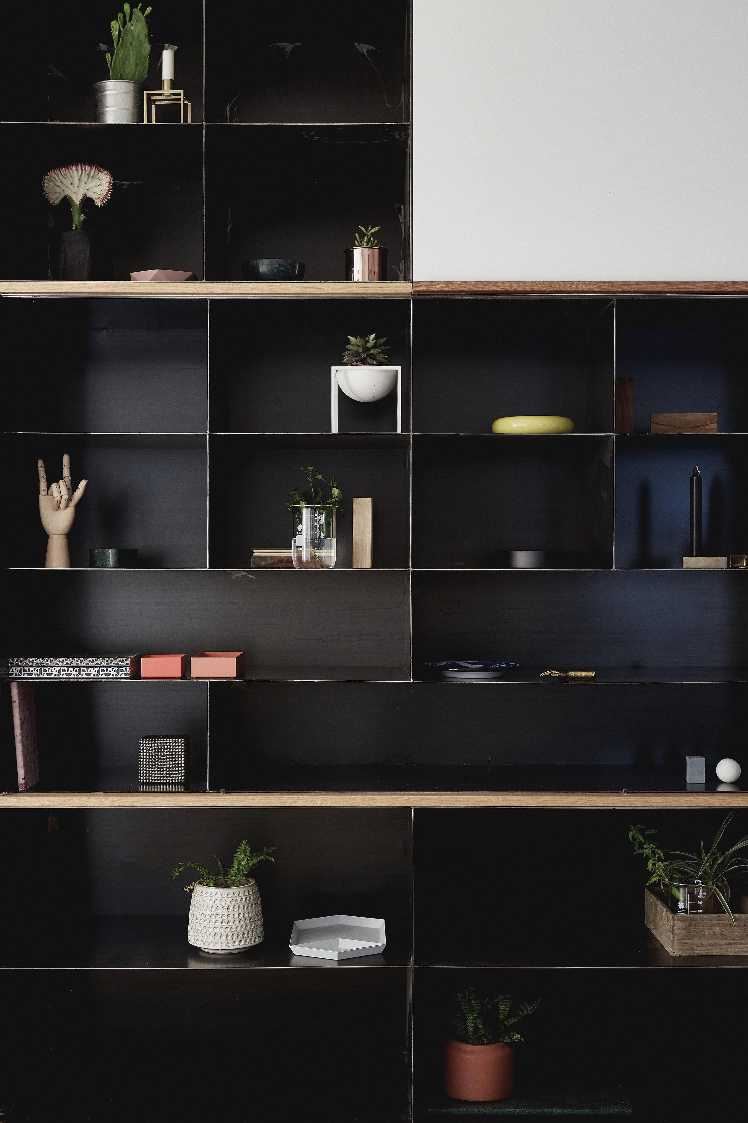 natural steel shelfs