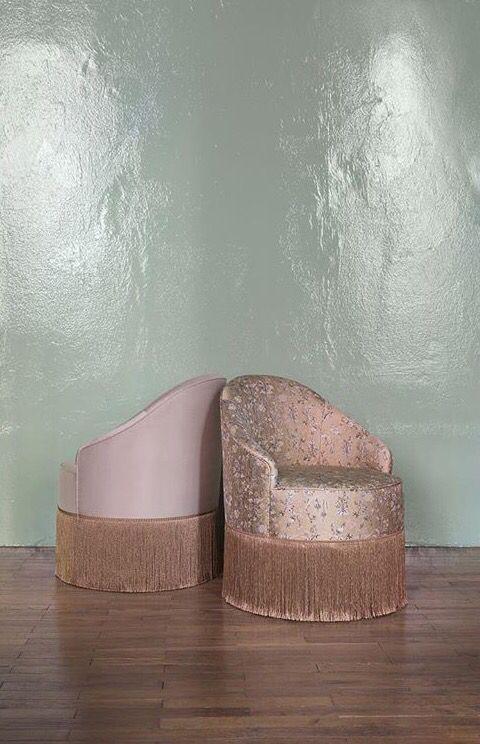Dimore studio pink tassels chairs