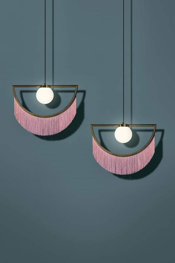 Masquespacio pink tassels lighting