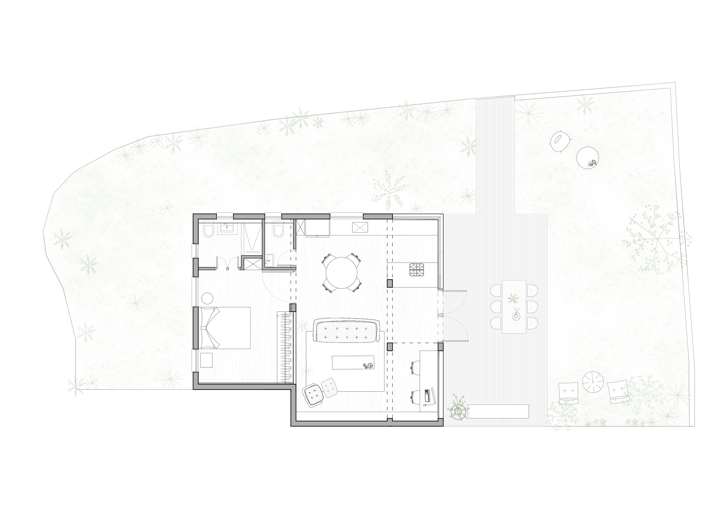 C Studio Apartment by This is IT plan Tel Aviv Jaffa graphic layout