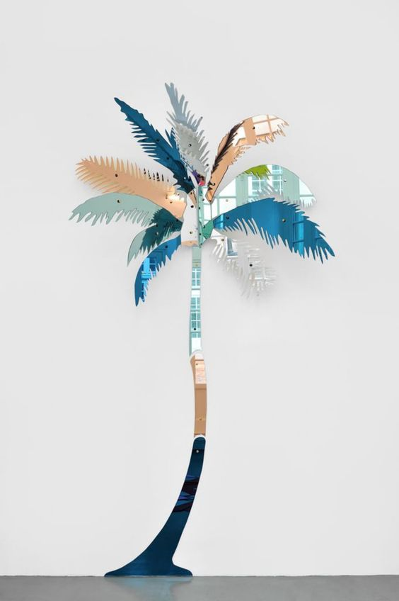 colored mirror palm