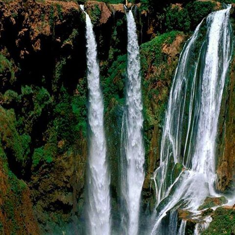 Explore the fantastic #Ouzoud #waterfalls on a marvellous day trip from #Marrakech to escape from the Heat in the #summer! #holiday #greentourism #fresh #cool #excursion #morocco