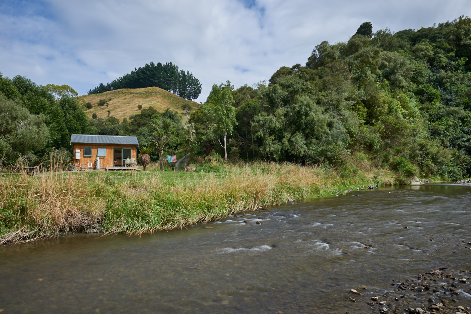 From your bed, enjoy the sound of the flowing river.