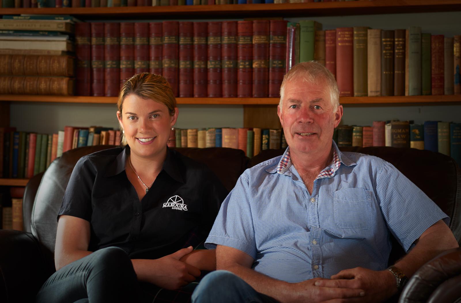 Owners- Hugh and  Hughs daughter Kimberley
