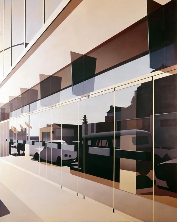 Glass Door Reflecting a Citroen
