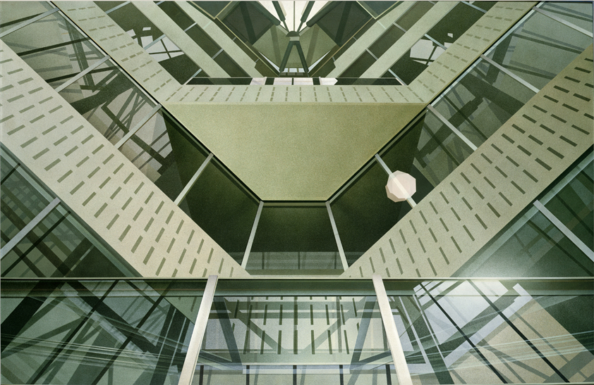 James Stirling's History Building + Richard Einzig's Iris Flare