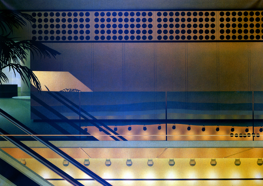 Crossed Lights and Escalator Space