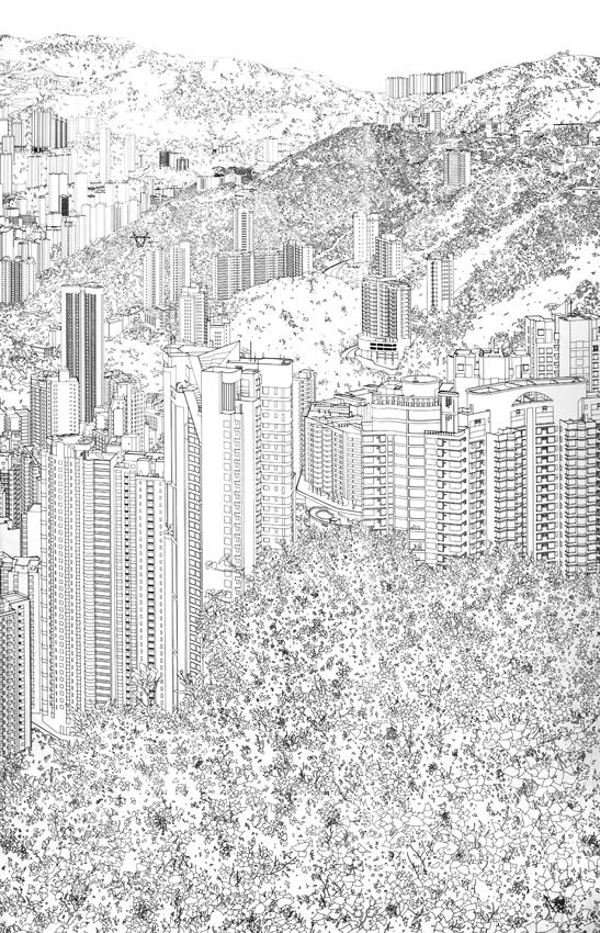Drawing for Hong Kong Panorama