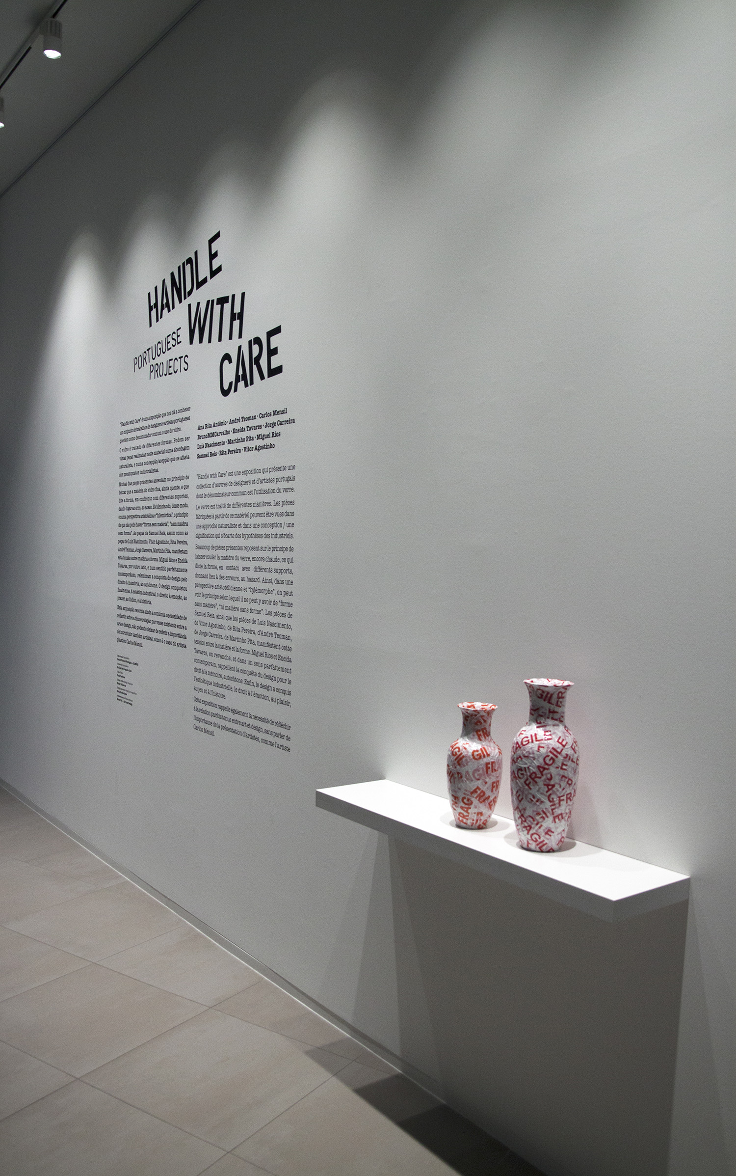 HANDLE WITH CARE - portuguese projects - Center Culturel Portugais - Camões do Luxemburgo, within the framework of Design City of Luxembourg