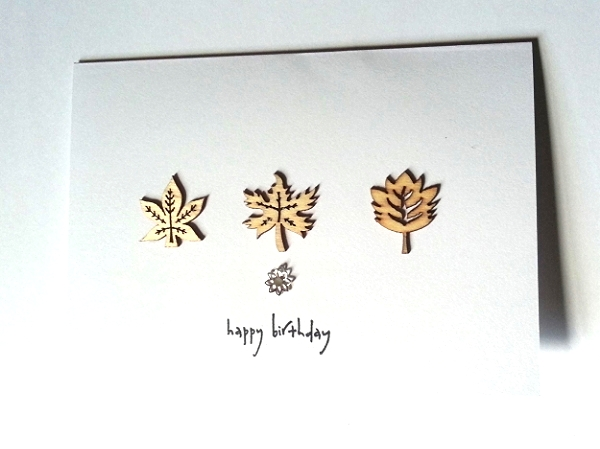 Leaf Happy Birthday - Lotus Style Flower Pendant