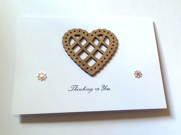 Heart Thinking of You - Lotus Style Studs