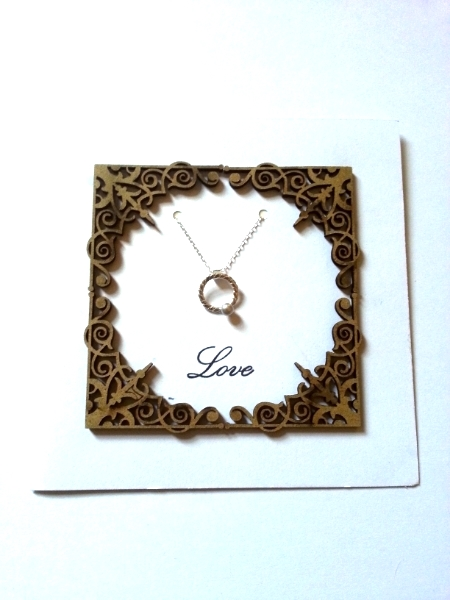 Love - Pearl Round Pendant