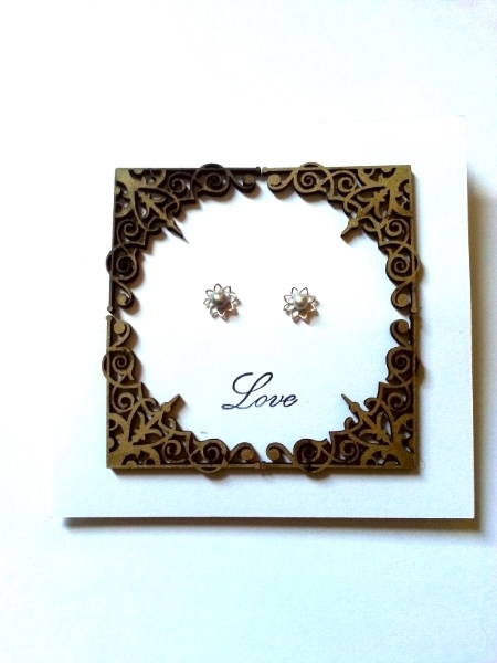 Love - Pearl and Lotus Style Studs