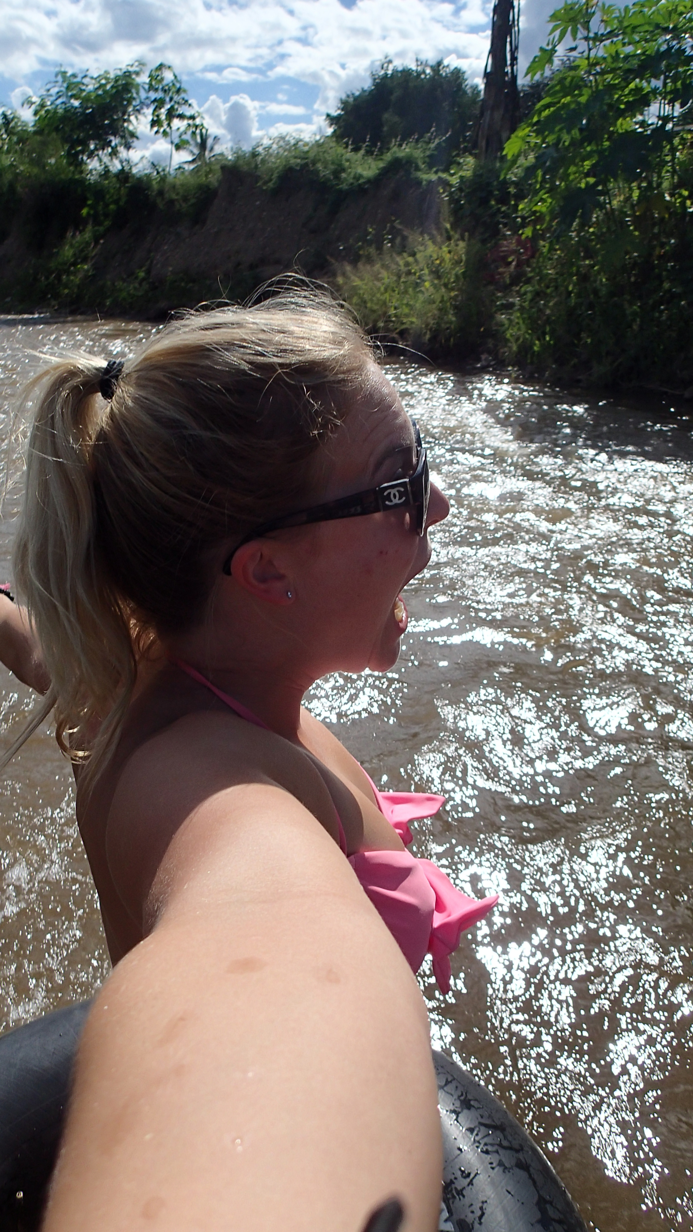 Tubing the river, not that epic.