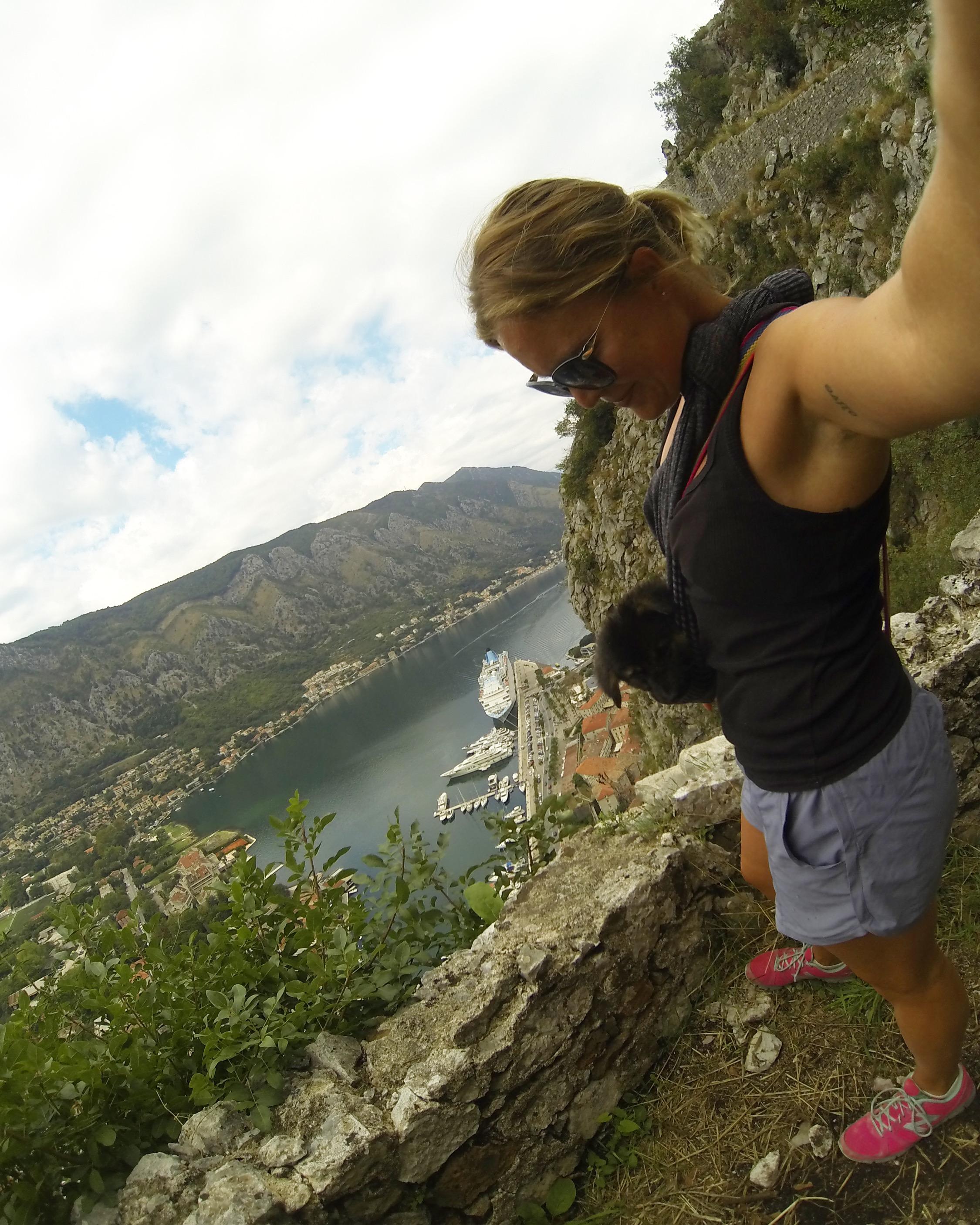 Nik + me hiking in Kotor