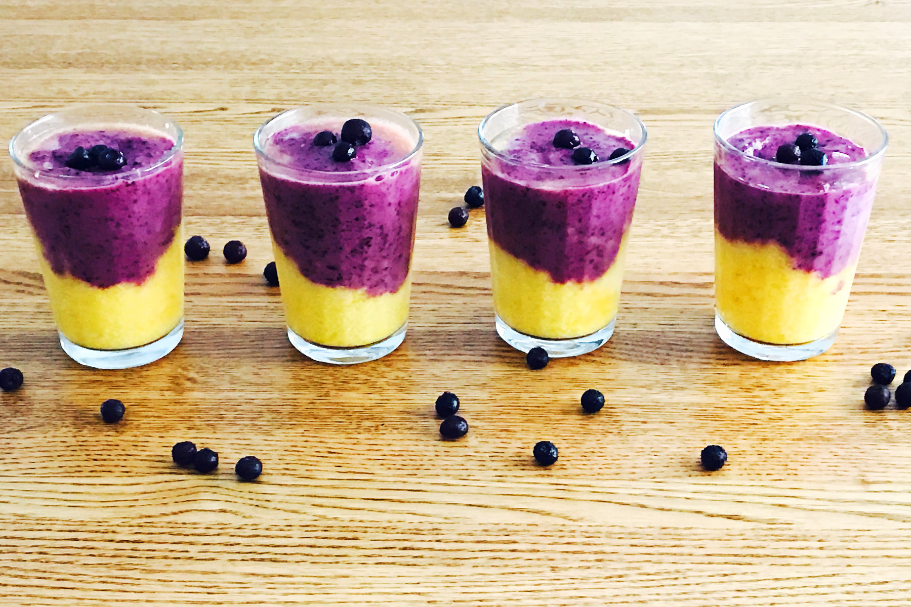 Wild Blueberries & Mango Half and Half Smoothie