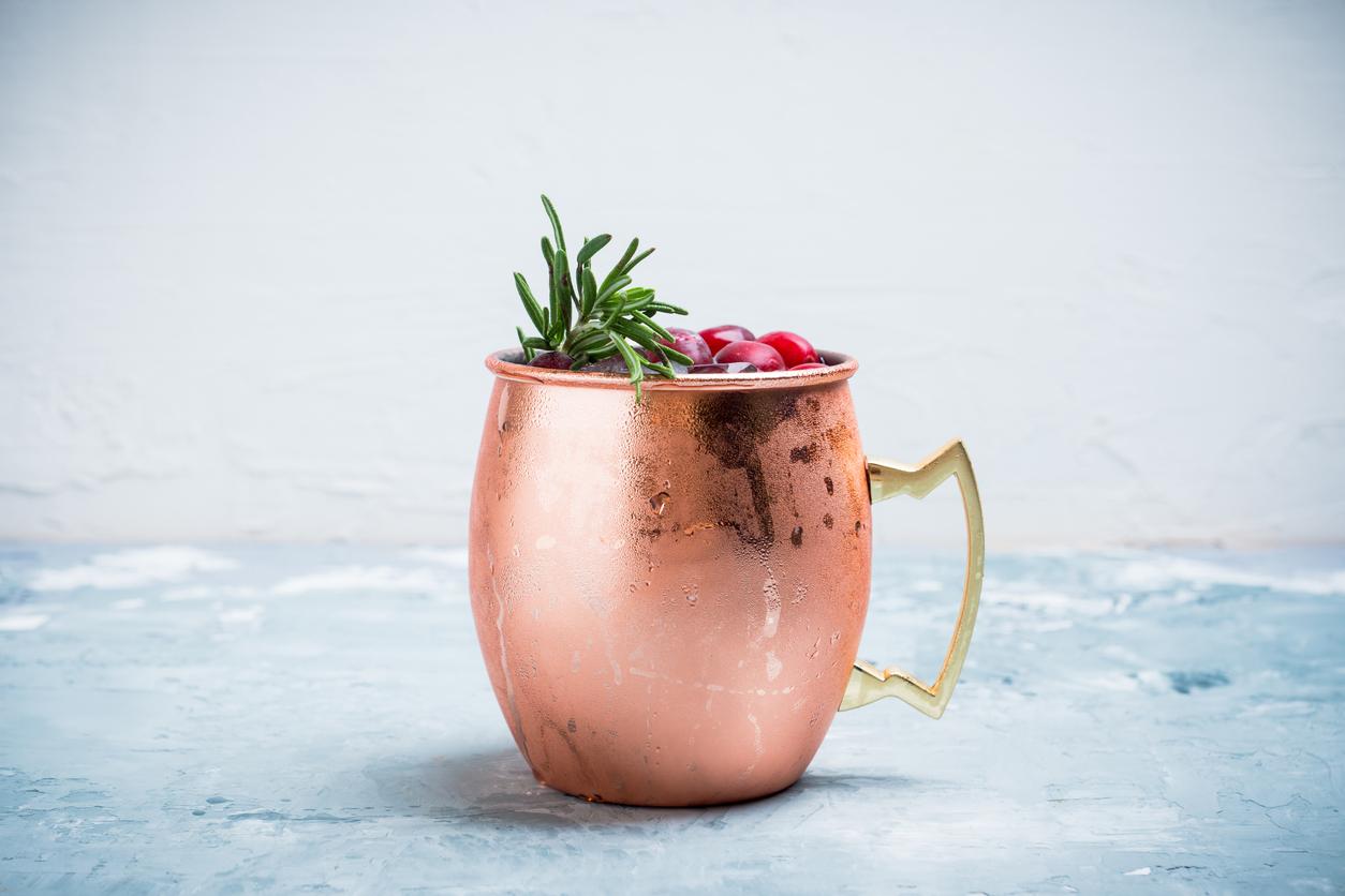 Sparkling Holiday Mule Mocktail