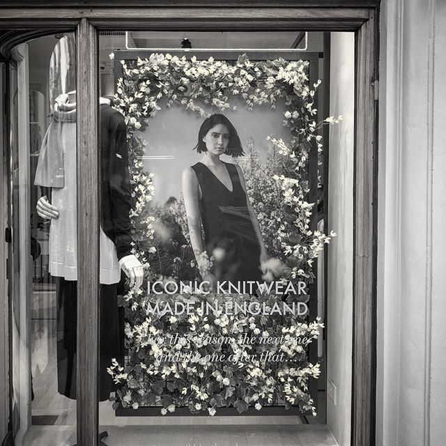 What a busy morning touring the new @johnsmedleyknitwear windows  We created this floral spring window, inspired by the SS19 photo shoot for their Icons collection, by combining artificial flowers with huge framed prints and continuing the scheme inside the stores with POS and large scale graphics . . Produced and installed by @mega_creative_ . #GraphicDesign #Design #DesignAgency #LondonDesignStudio #London #Retail #RetailDesign #WindowDisplay #VM #VMDisplay #OneBigCompany #OBCdesign #Creative #Graphics #JohnSmedley #Knitwear #MadeInEngland #JermynStreet #NewCavendishStreet #MaryleboneHighStreet #BrookStreet #ArtDirection #spring #SS19 #fakeflowers