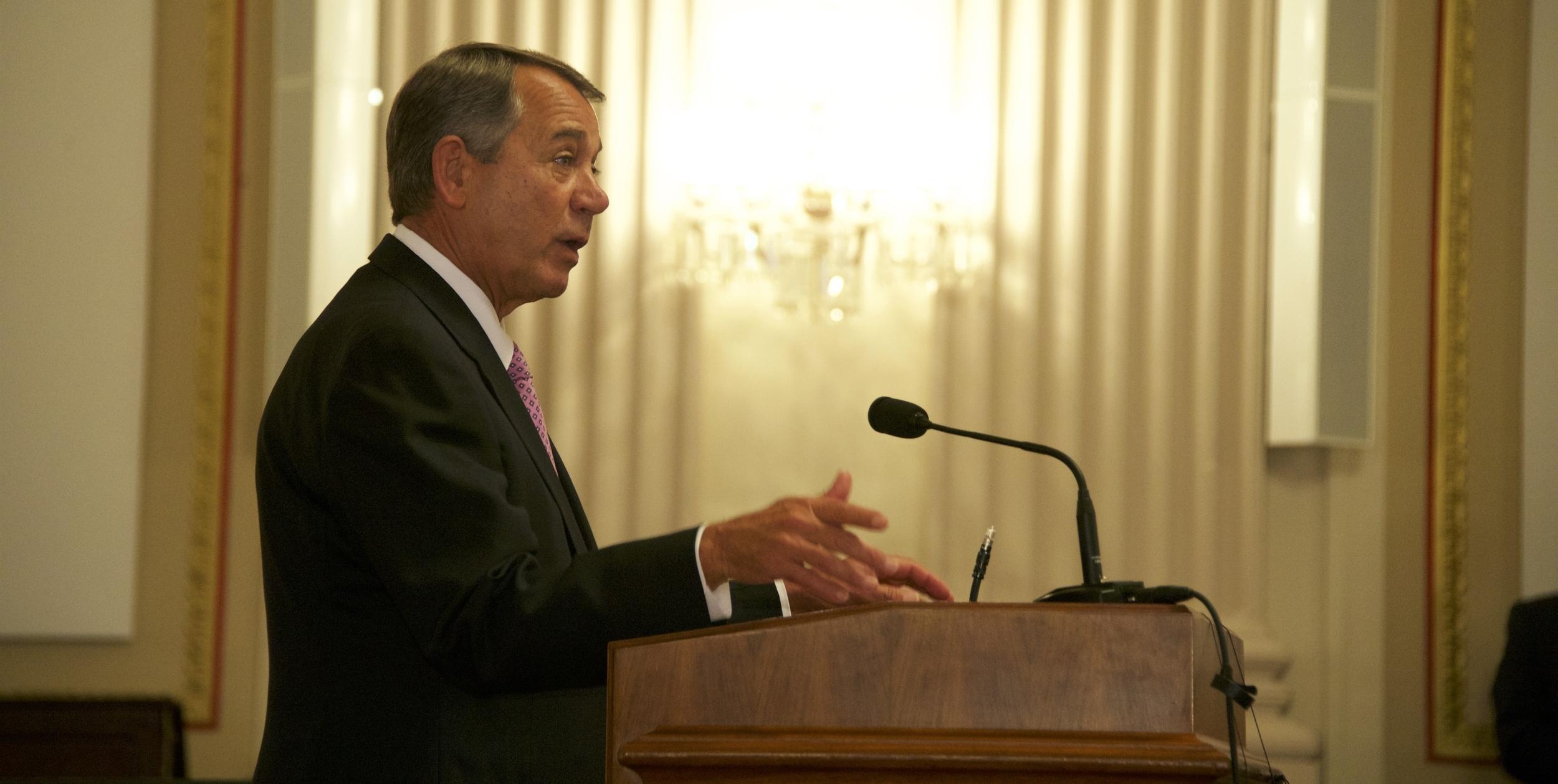 Former Speaker of the House, John Boehner
