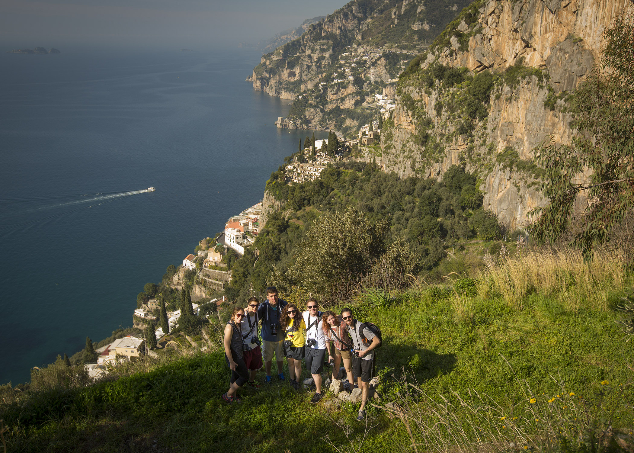 Students on the Walk of the Gods located on the Amalfi Coast (Photo: Canisius College)