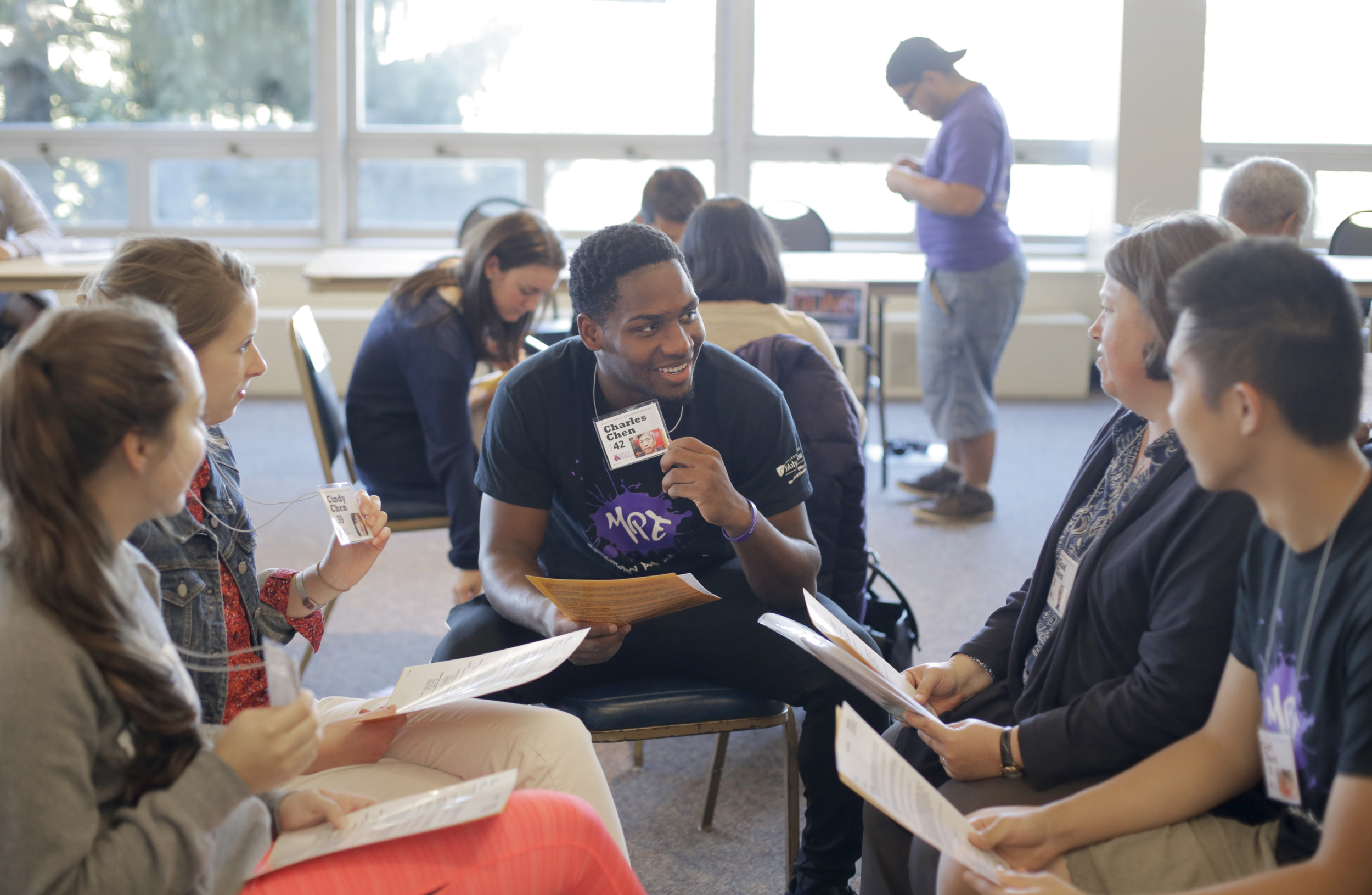 Holy Cross Students experience a poverty simulation on campus (Photo by College of the Holy Cross)