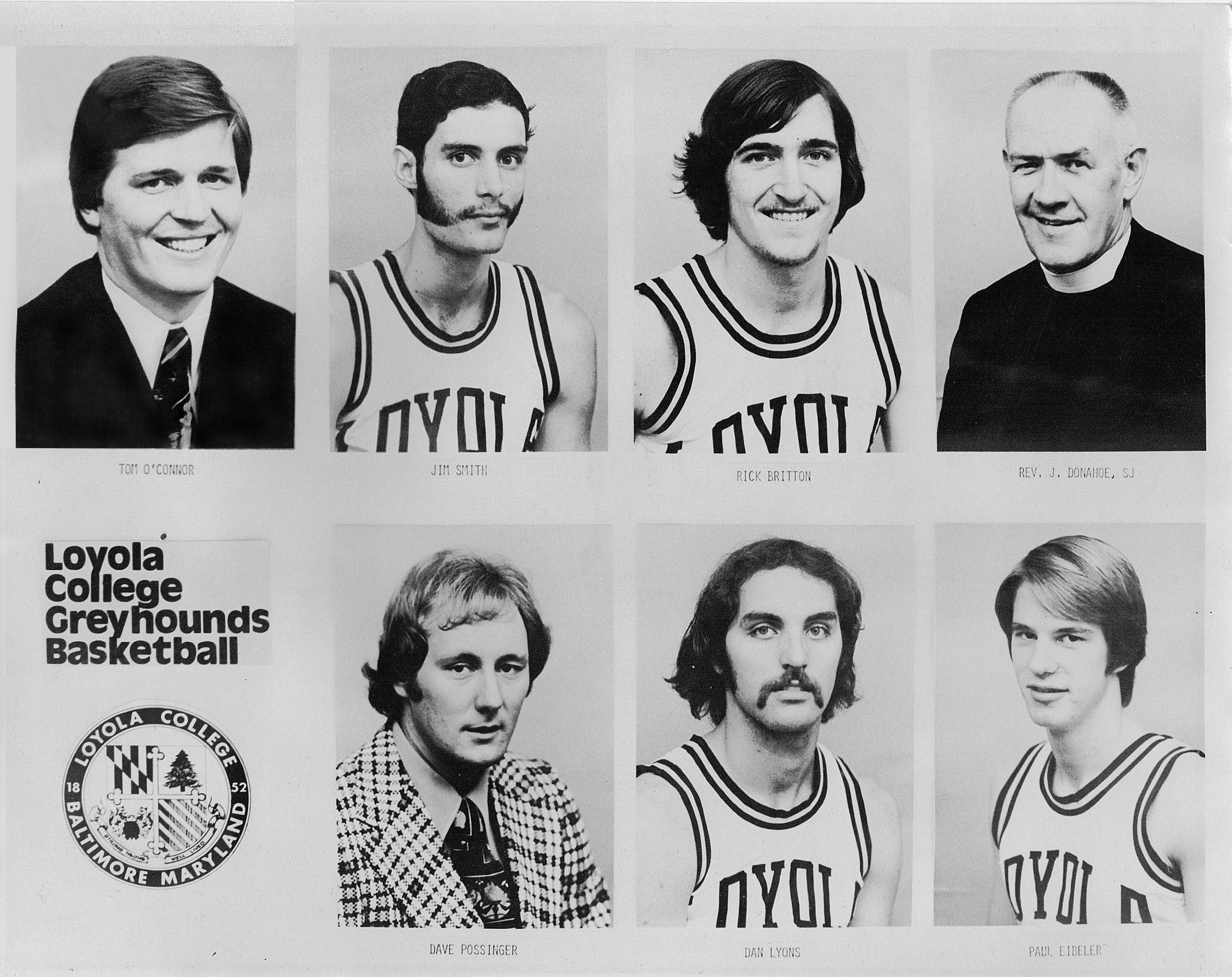 Loyola College in Maryland 1975-76 Men's Basketball Team (Photo by Jimmy Smith)