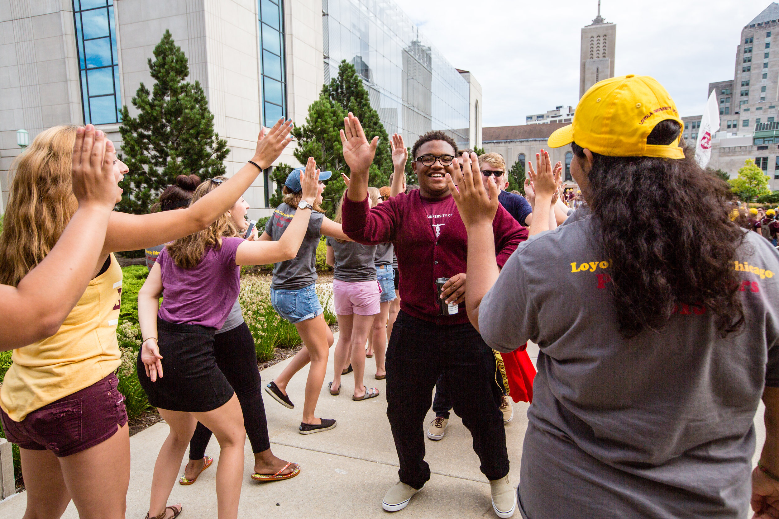 This year's class at Loyola University Chicago is the largest in school history (Photo by Loyola University Chicago)