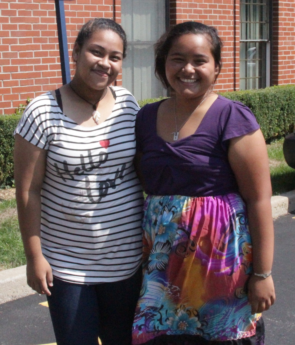 Krystal Saimon & Annalyn Tareg have both moved from Micronesia to Buffalo, NY to study at Canisius College (Photo by Canisius College)