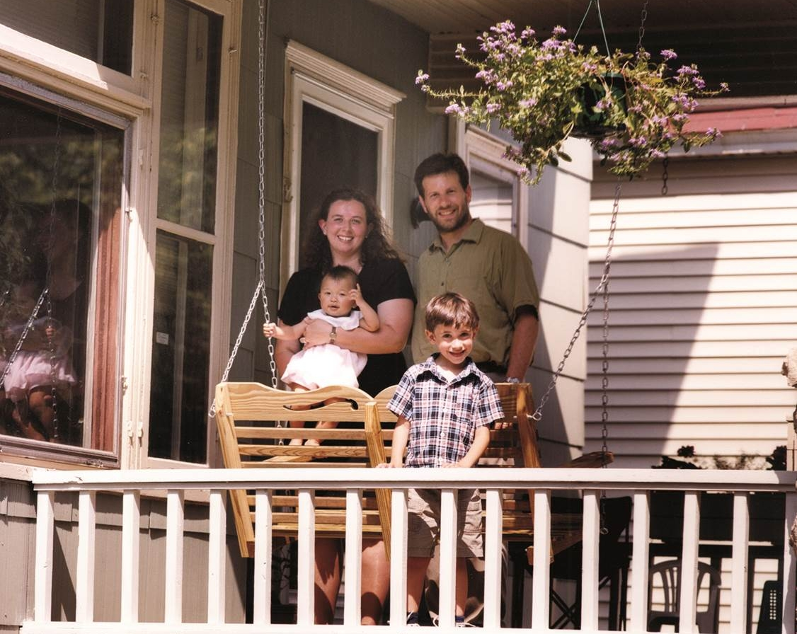 Pictured with his family, Michael J. Forest, Ph.D., chair of the Philosophy Department at Canisius, is an Employer Assisted Housing Program (EAH) participant. (Photo by Canisius College)
