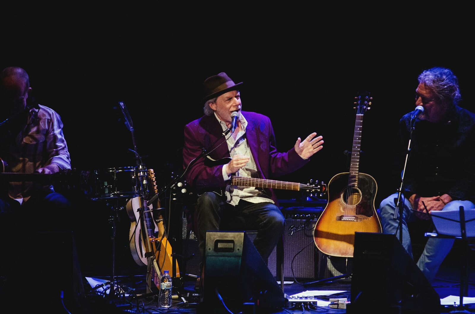Buddy Miller at the mic (Photo by Jesse Lee, Marquette University)