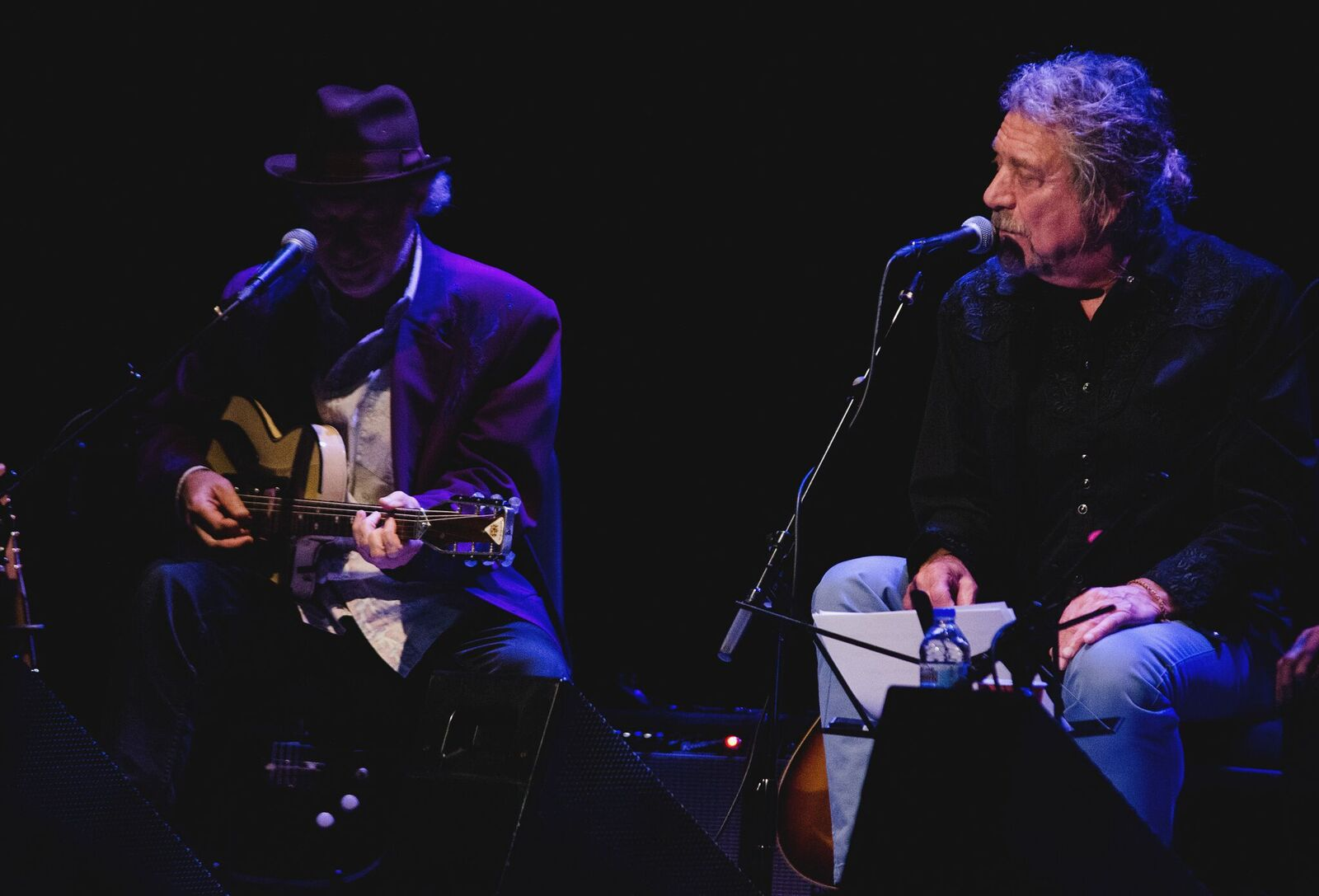 Buddy Miller and Robert Plant (Photo by Jesse Lee, Marquette University)