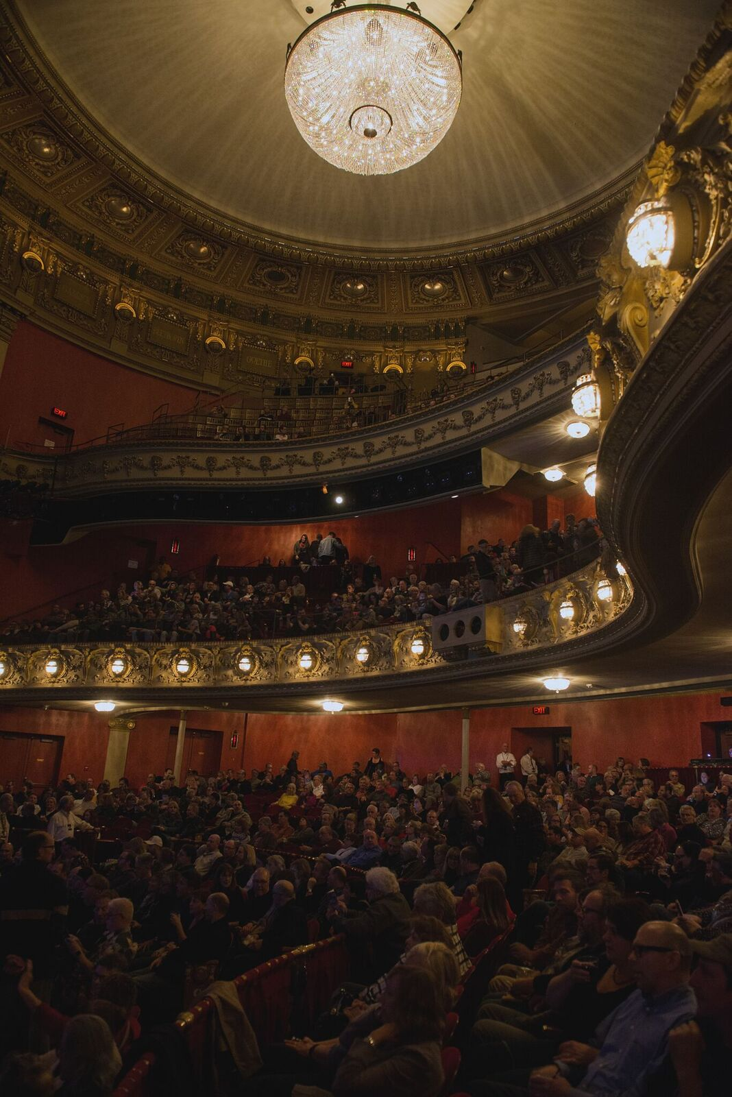 The crowd at Pabst Theater, Milwaukee, WI (Photo by Jesse Lee, Marquette University)