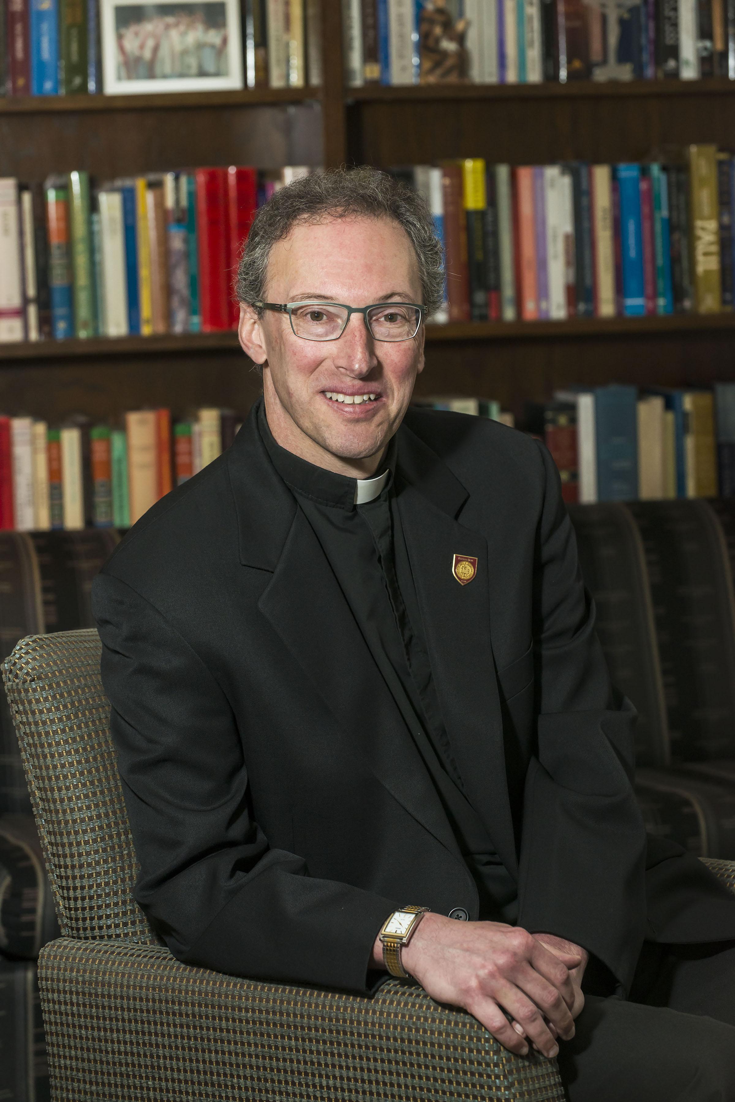 Rev. Thomas Stegman, S.J. (Photo by Lee Pellegrini,Boston College)