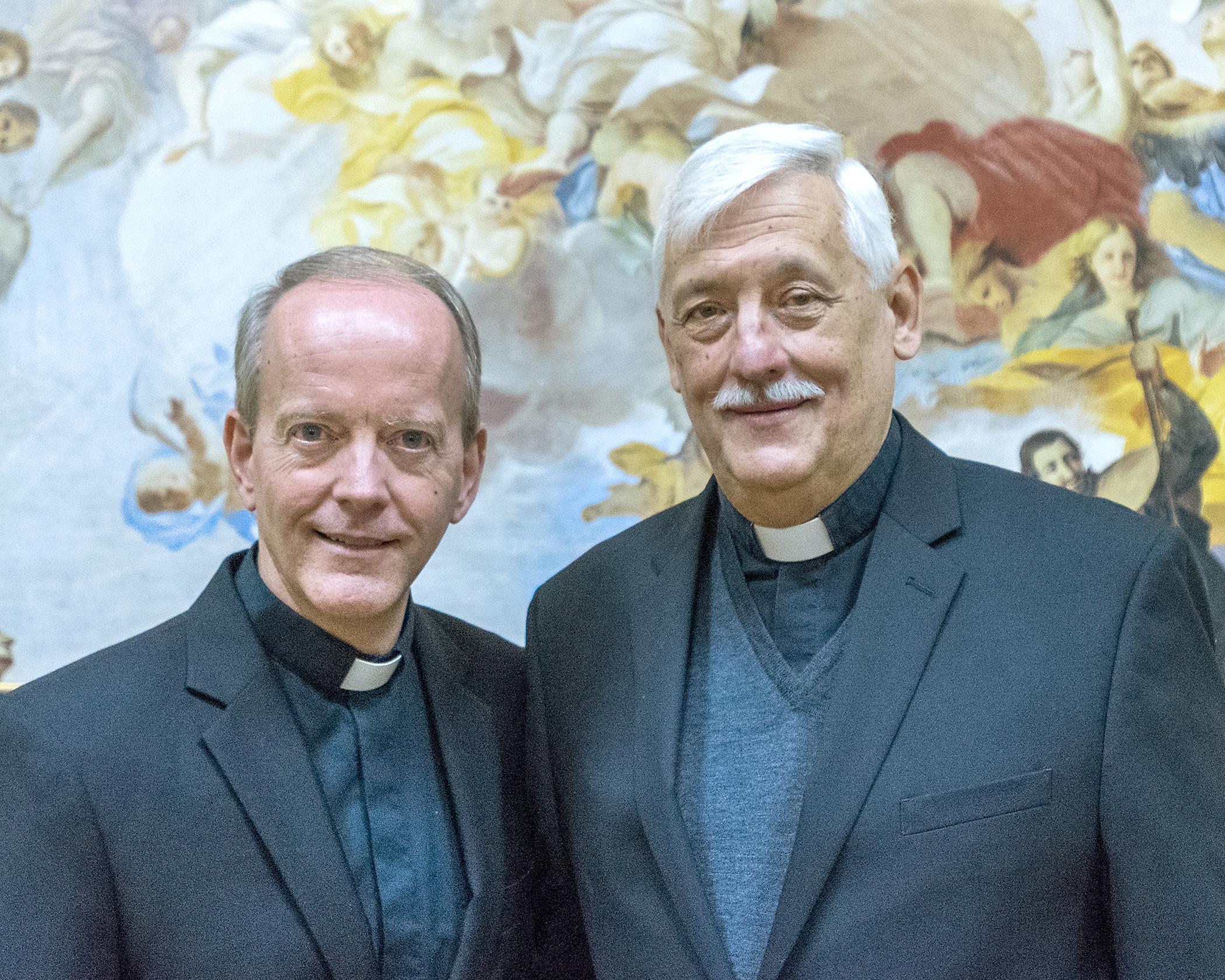 Very Rev. Robert M. Hussey, S.J. and Rev. Arturo Sosa, S.J. (Photo by Rev. Itua Egbor, S.J.)