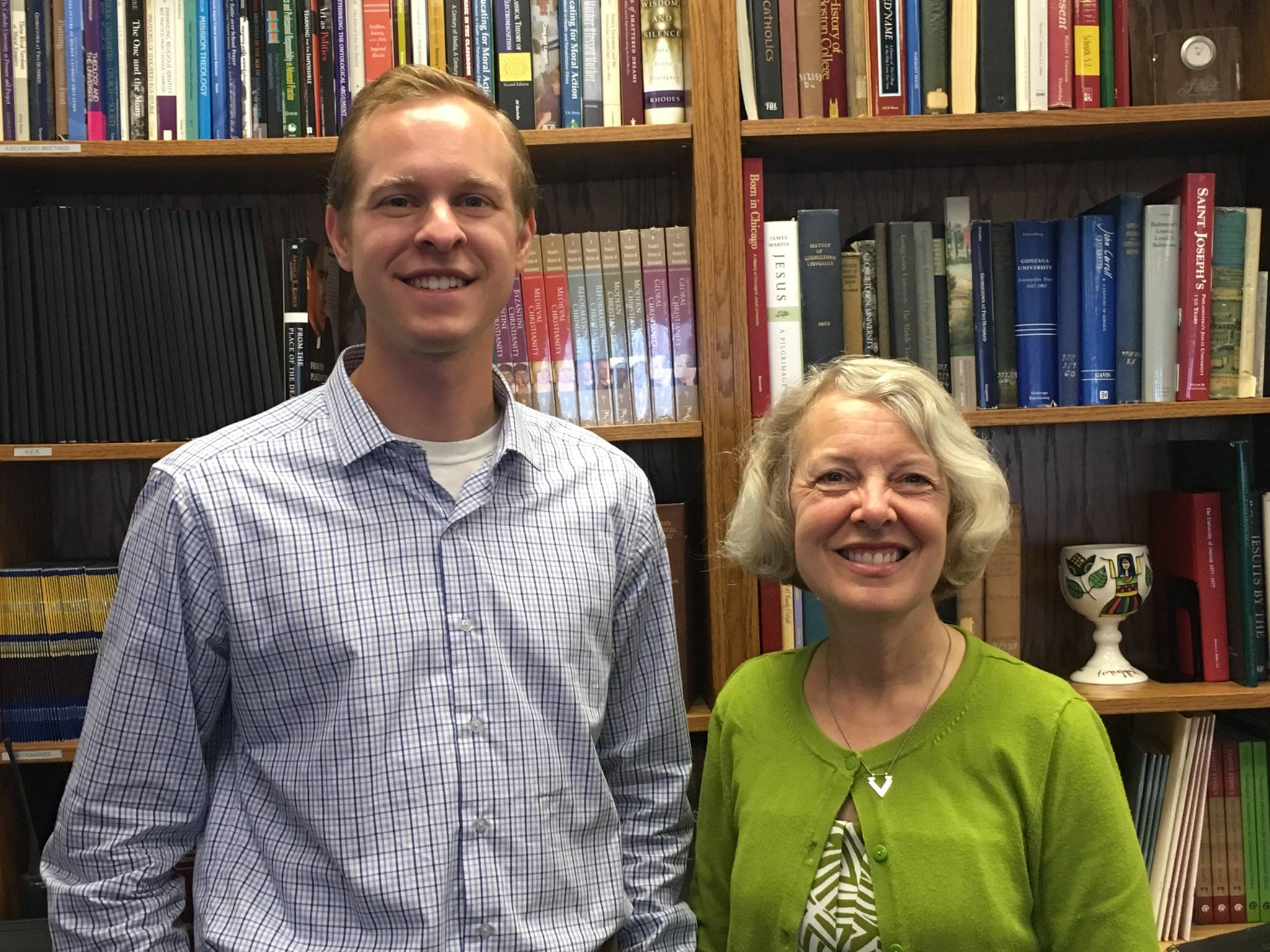Michael Wieczorek and Dr. Stephanie Russell (Photo by AJCU)
