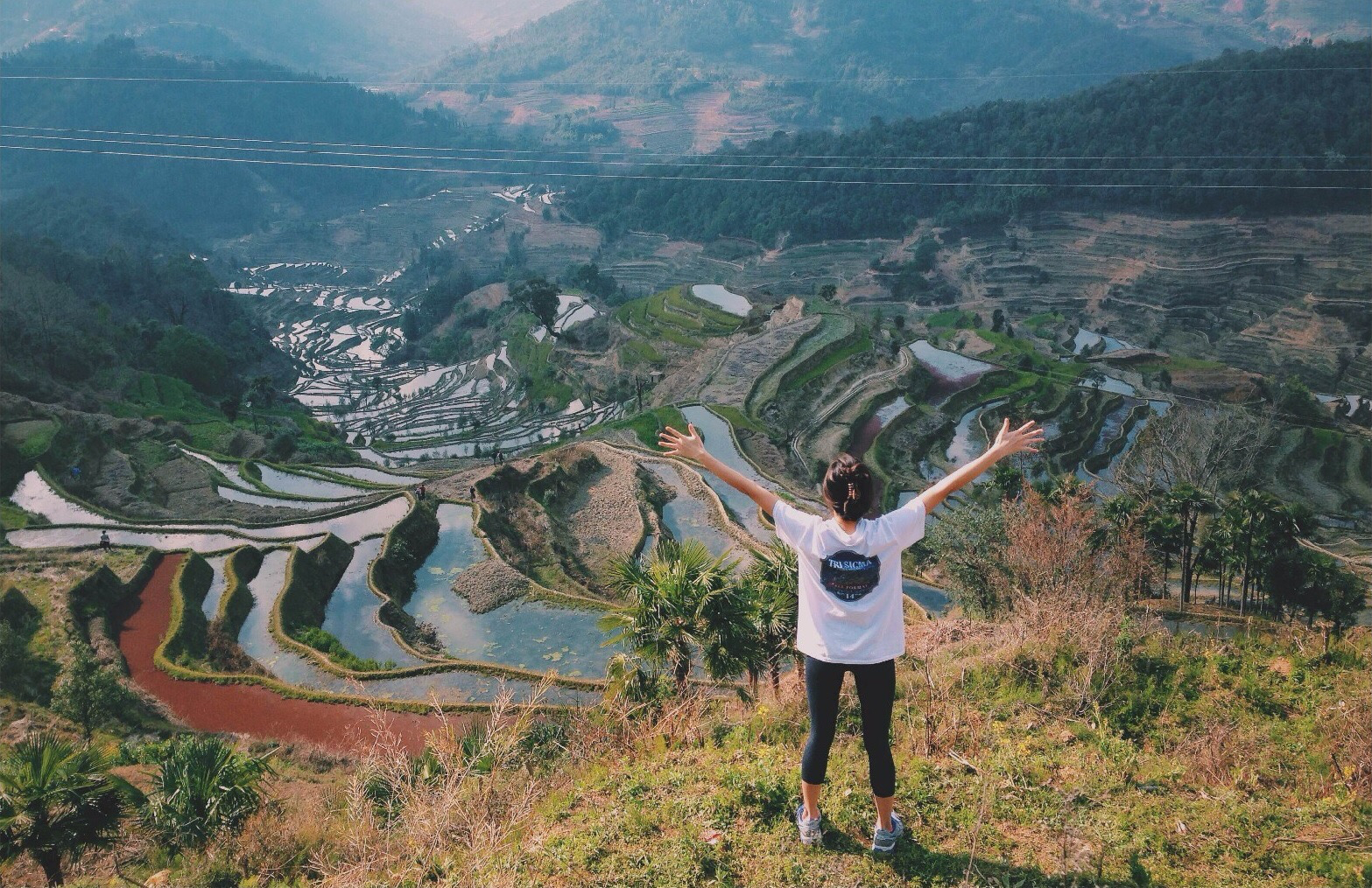 A student from The Beijing Center takes in the Chinese landscape (Photo by The Beijing Center)