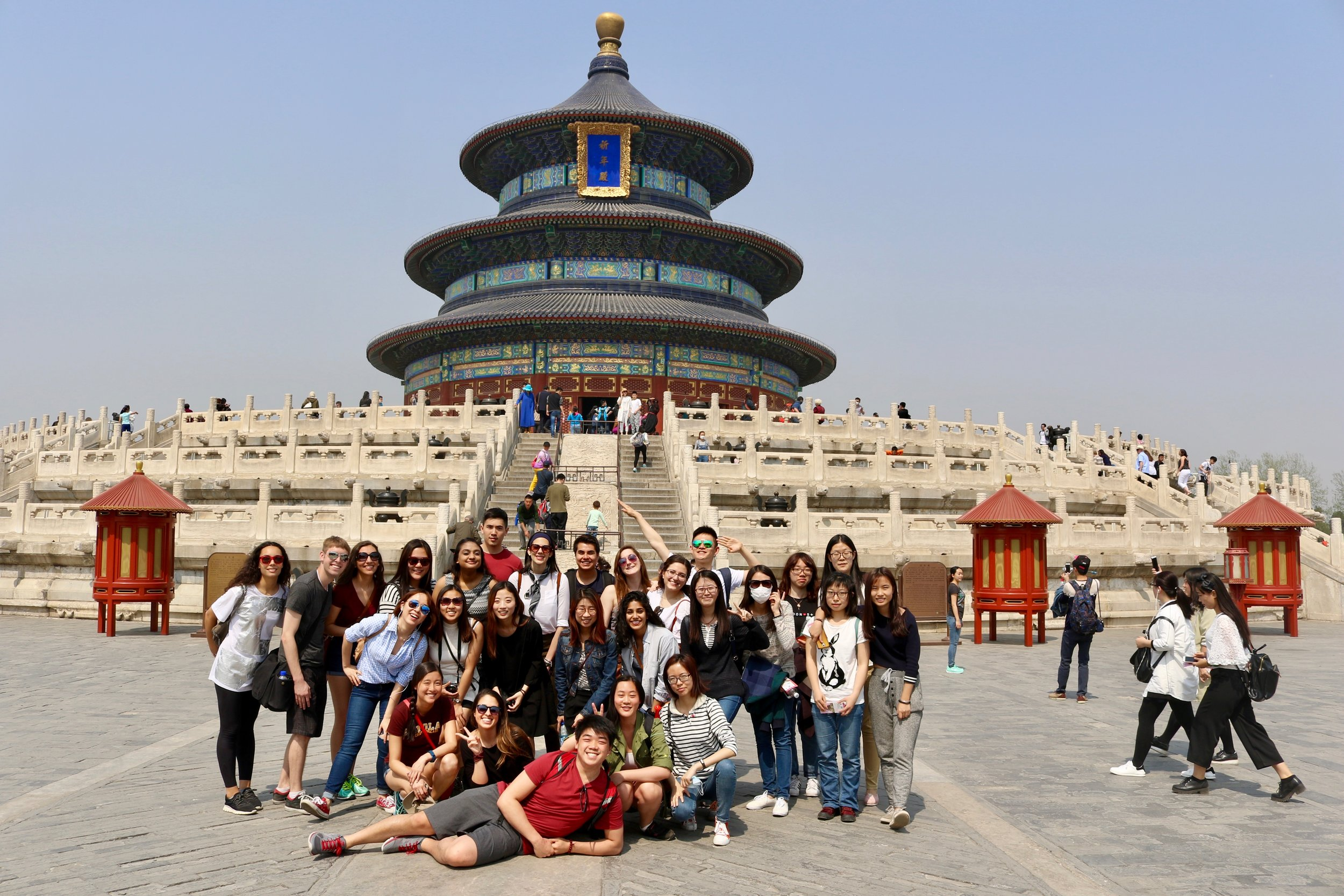 Students from the Beijing Center on a study excursion in China (Photo by The Beijing Center)