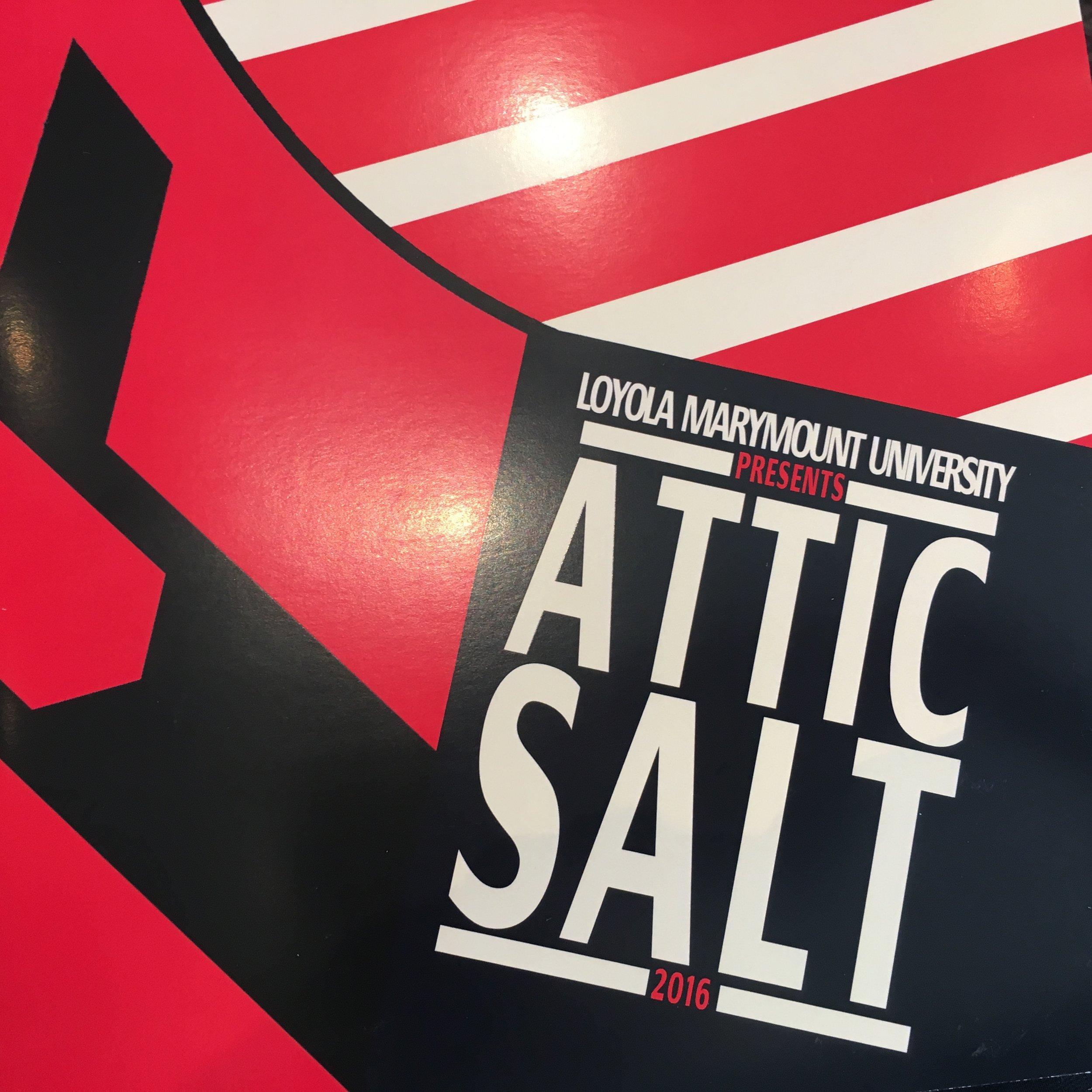 Attic Salt: Loyola Marymount University's Interdisciplinary Honors Journal