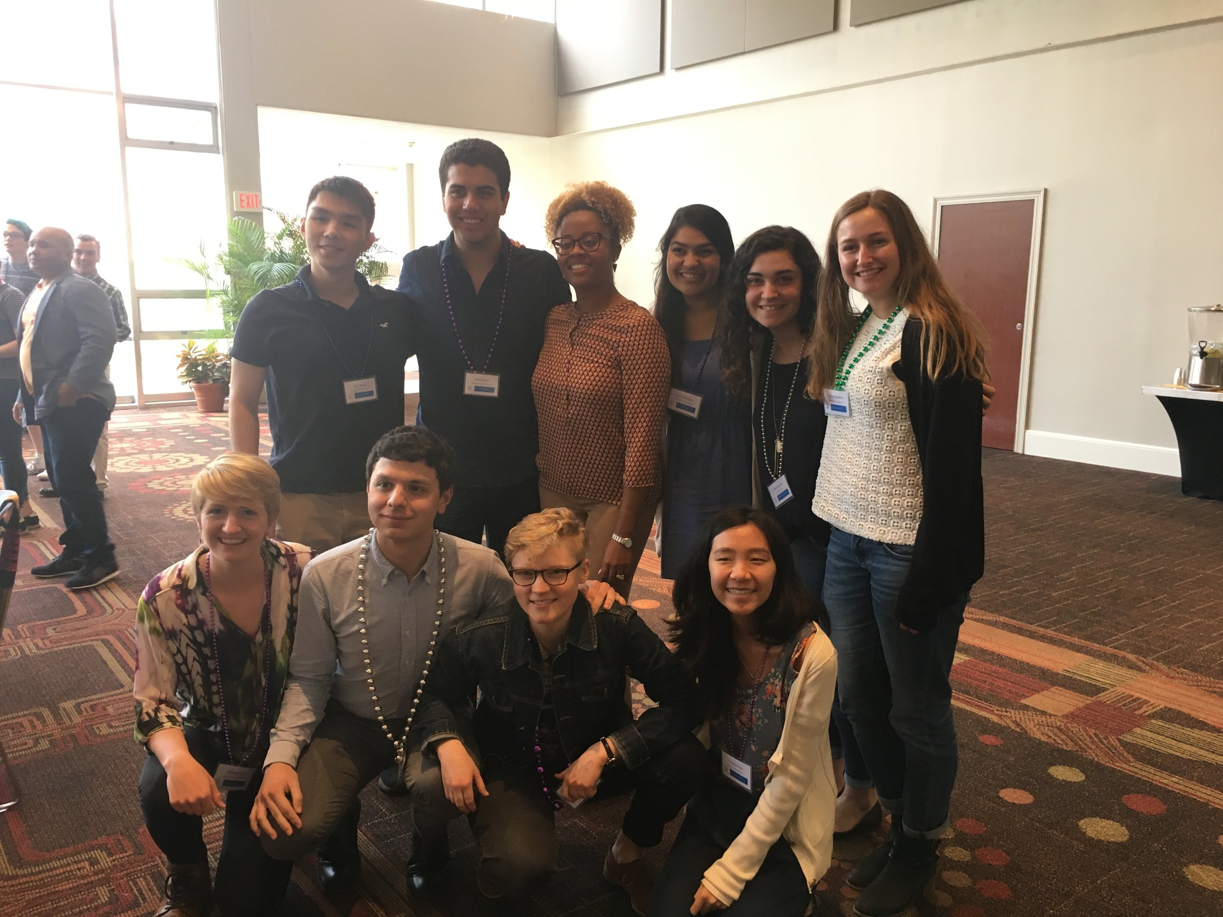 Fordham University and Santa Clara University students with guest speaker at Teach-In on Restorative Justice.