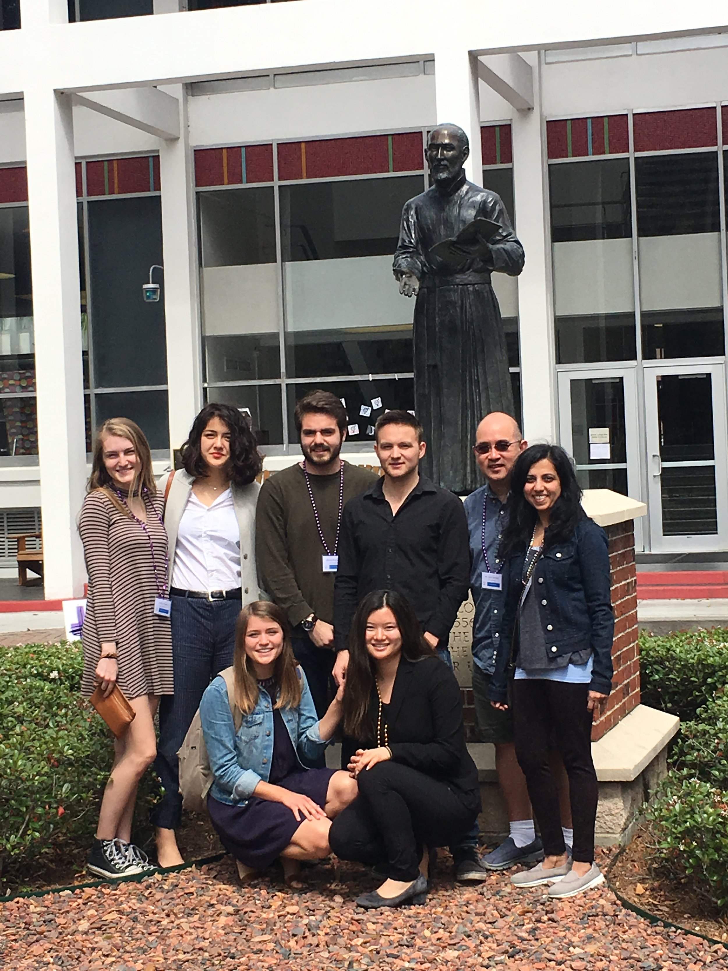 Loyola Marymount University students and faculty on campus at Loyola University New Orleans.