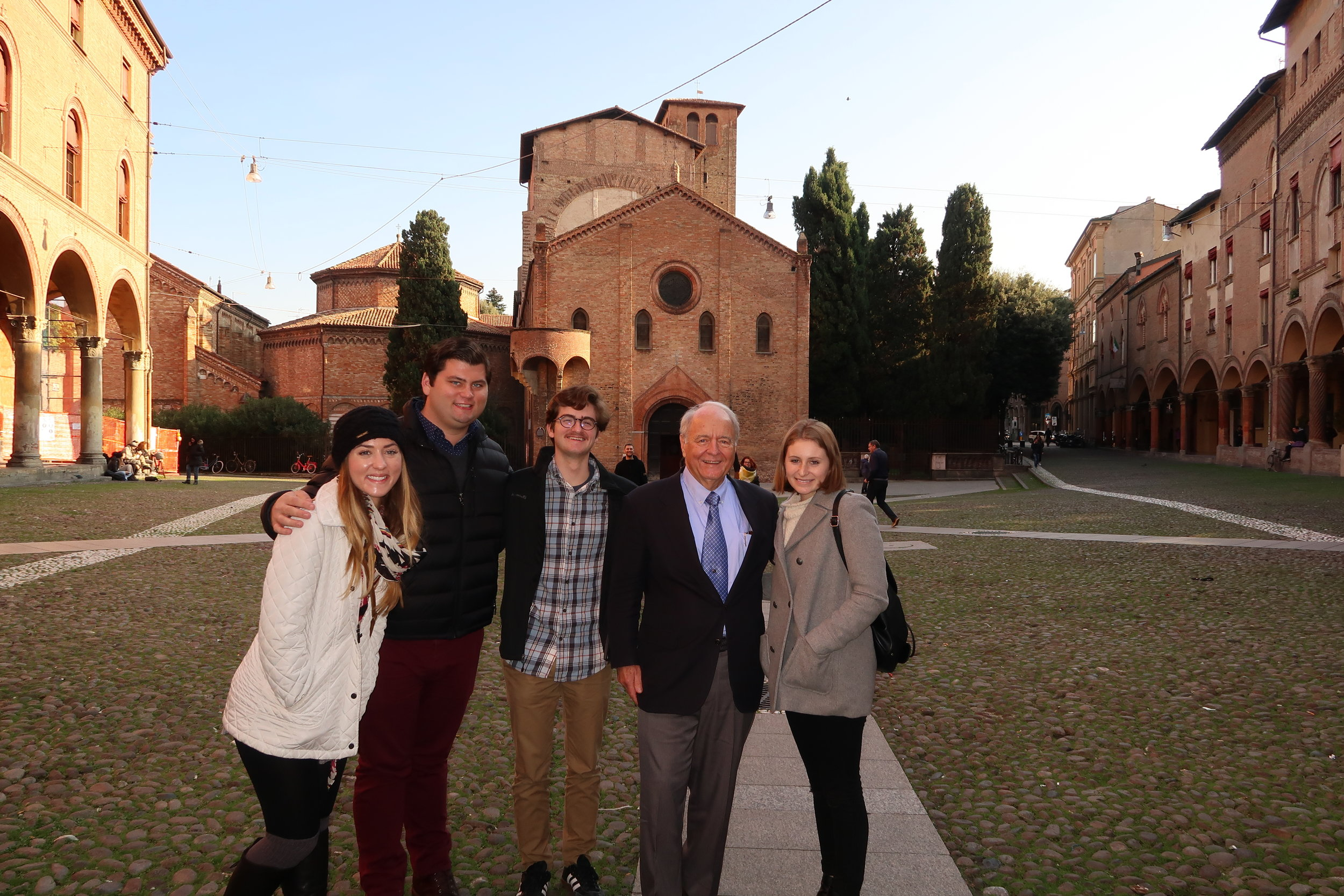 Dr. Christopher P. Puto with Spring Hill College students in Italy in November 2016 (Photo by Spring Hill College)