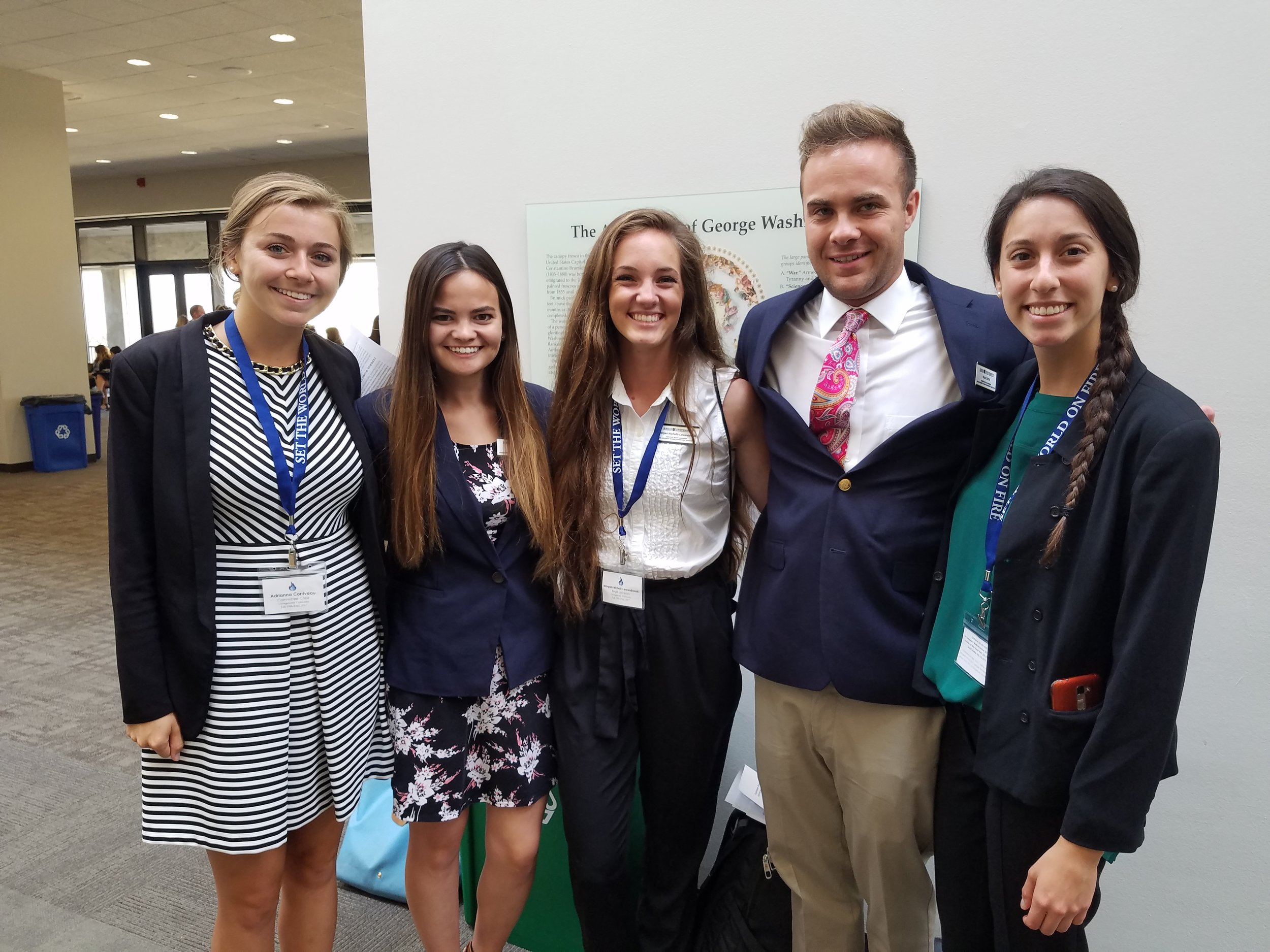 Jesuit Student leaders participated in Advocacy Day on Capitol Hill (Photo by Michael Wieczorek)